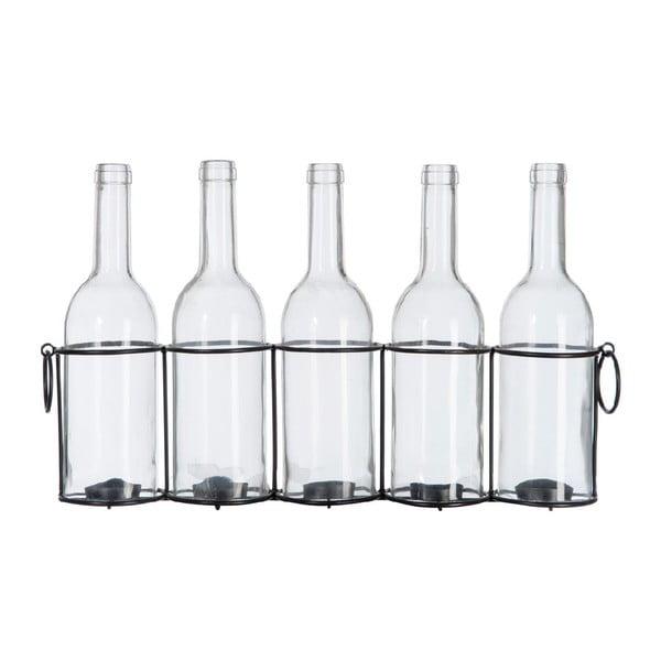 Skleněné lahve Vintage, 45x9x26 cm