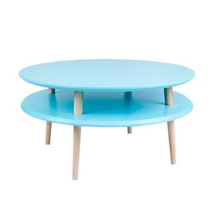 Tmavě tyrkysový konferenční stolek Ragaba UFO,Ø70cm