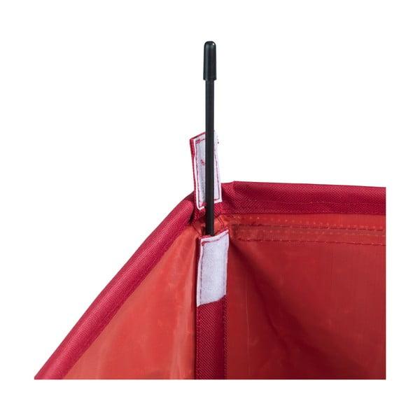 Červený trojitý koš na prádlo Wenko Trivo