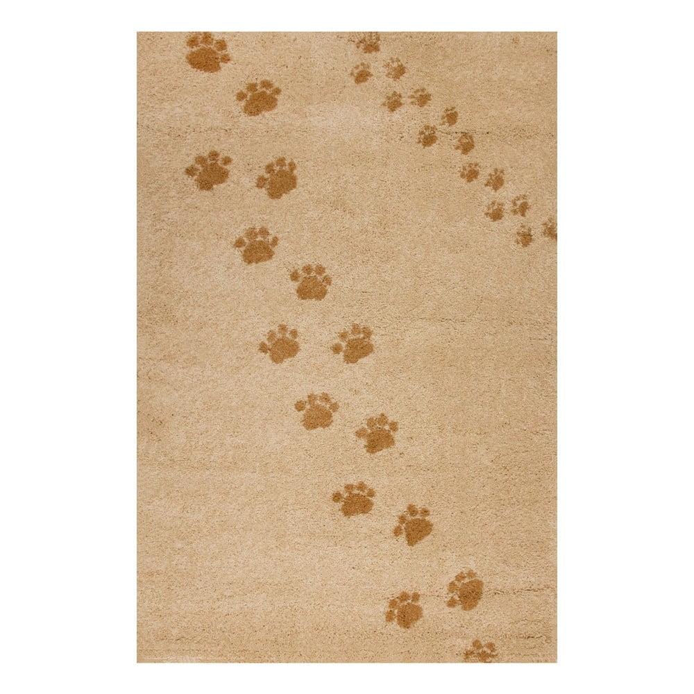 Béžový koberec Art For Kids Footprints, 100 x 150 cm