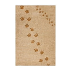 Béžový koberec Art For Kids Footprints, 100x150cm