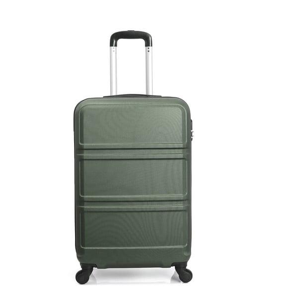 Zelený cestovní kufr na kolečkách Hero Utah, 37 l