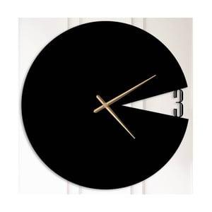 Černé kovové nástěnné hodiny Bernice