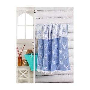 Modrý ručník Kurukafa, 180 x 100 cm