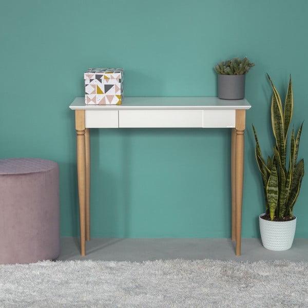 Bílý pracovní stůl Ragaba Mamo, šířka 85 cm