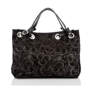 Černá kožená kabelka Glorious Black Morana