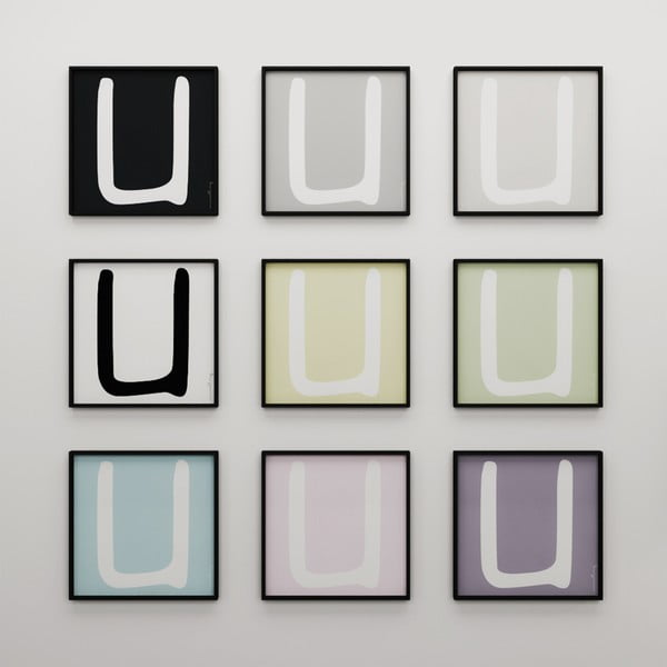 Plakát Litera U, 50x50 cm