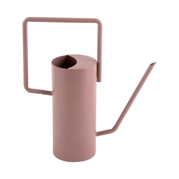 Světle růžová kovová konvička PT LIVING Grace, výška29cm