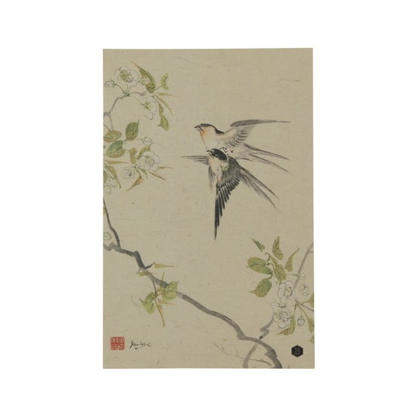 Poster din hârtie handmade BePureHome Swallows, 47 x 32 cm