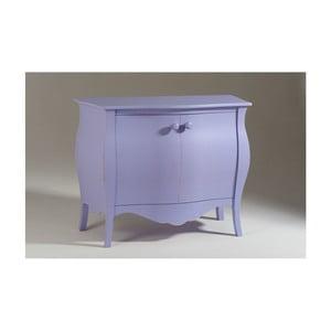 Fialová  dvoudveřová dřevěná komoda Castagnetti Sabby