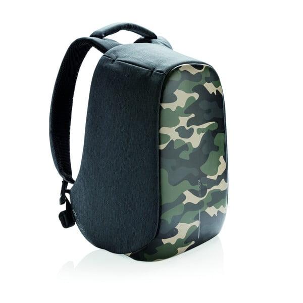 Camouflage unisex biztonsági hátizsák, zöld részletekkel - XD Design