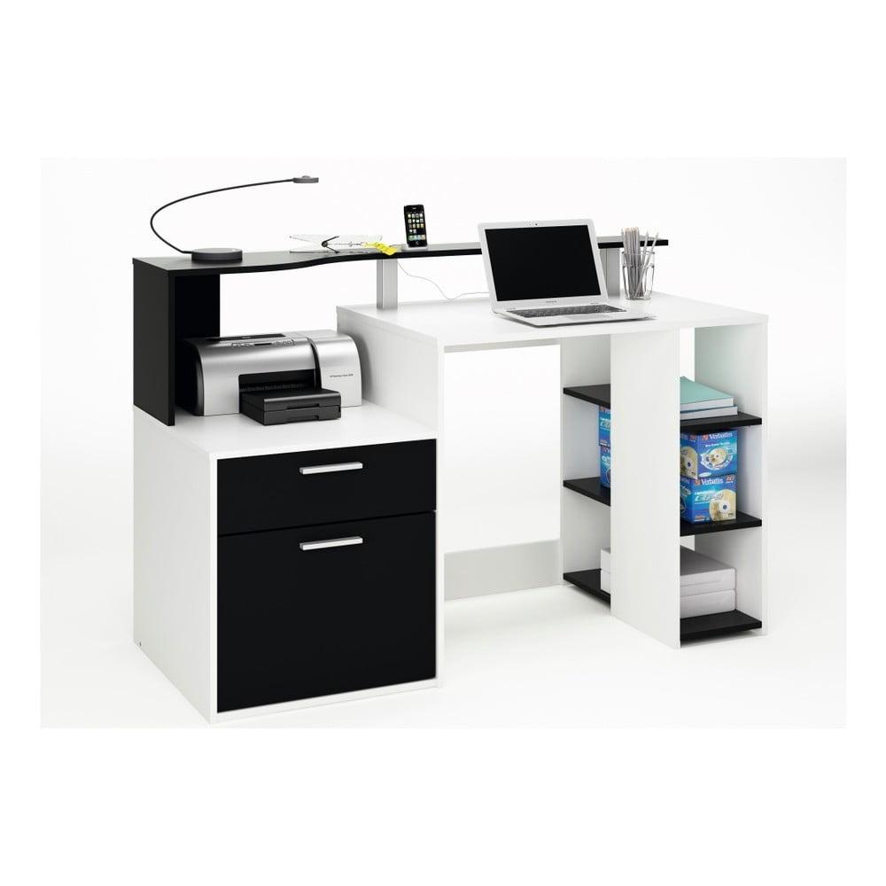 Bíločerný pracovní stůl Oracle