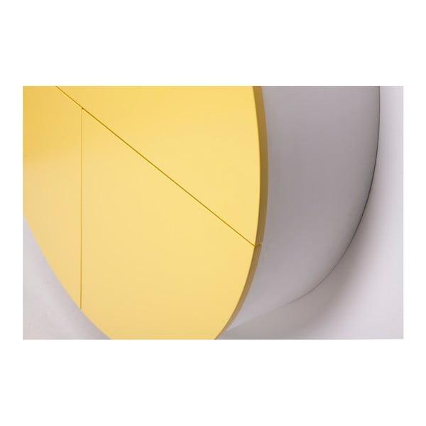 Žlutobílý multifunkční nástěnný stůl EMKO Pill