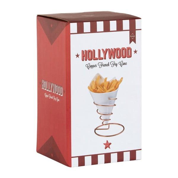 Porcelánový stojánek na hranolky v měděné barvě Premier Housewares Hollywood