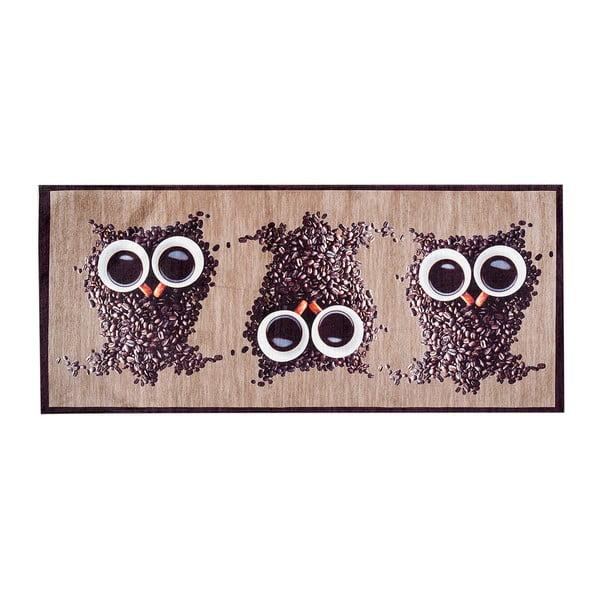 Vysoce odolný kuchyňský koberec Webtappeti Gufocaffe, 60x300 cm