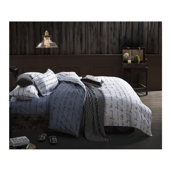 Lenjerie de pat pentru 1 persoană DecoKing Basic Poem Dark, 135x200cmm