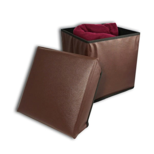 Taburetka s úložným prostorem Brown Stool