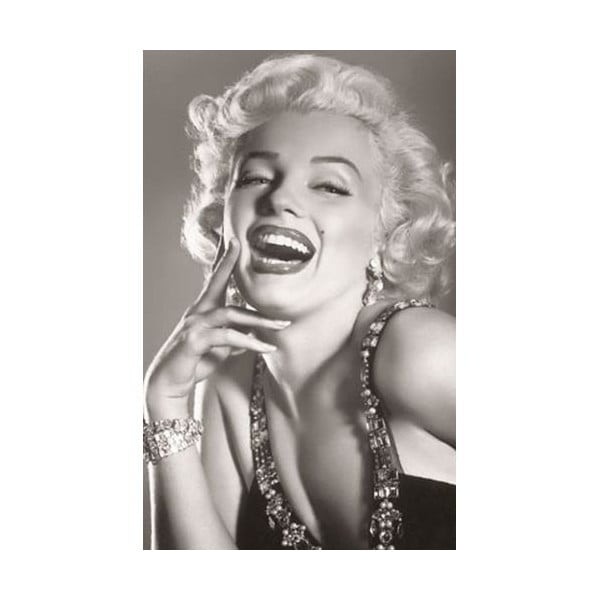 Fotoobraz Marilyn Black And White, 81x51 cm