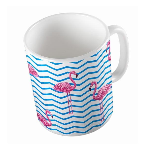 Keramický hrnek Flamingo in Water, 330 ml