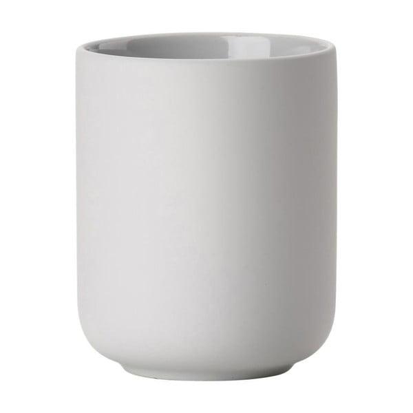 Soft Grey világos szürke agyagkerámia fogkefetartó pohár - Zone