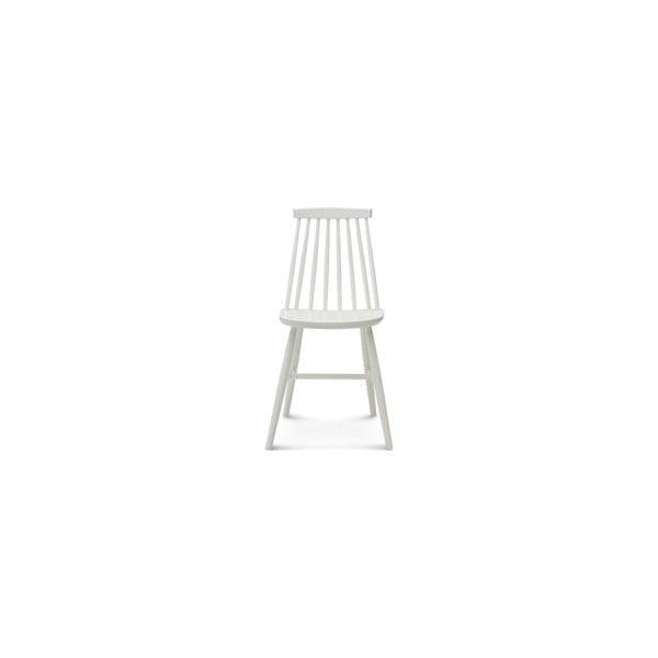Bílá dřevěná židle Fameg Age