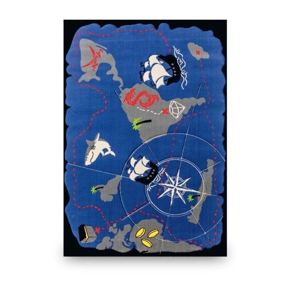 Pirate kék gyerekszőnyeg, 133 x 190 cm
