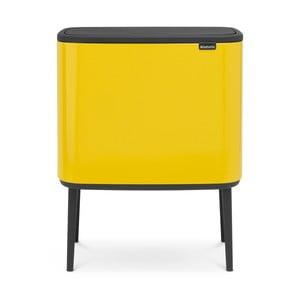 Žlutý odpadkový koš se 3 přihrádkami Brabantia BO Touch Bin, 3x11l