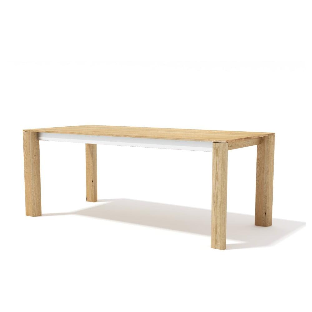 Rozkládací jídelní stůl z masivního dubového dřeva Javorina Exte, 160+90cm