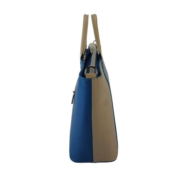 Kožená kabelka Luisa Light Blue & Cream