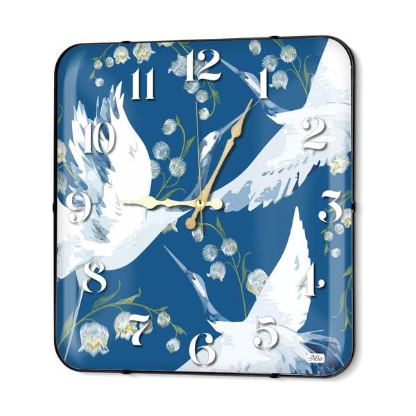 Modré nástenné hodiny The Mia