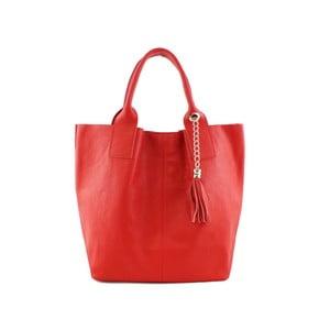 Červená kabelka z pravé kůže GIANRO' Rulette