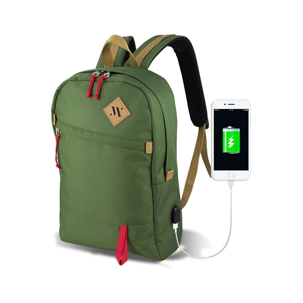 Zelený batoh s USB portem My Valice FREEDOM Smart Bag
