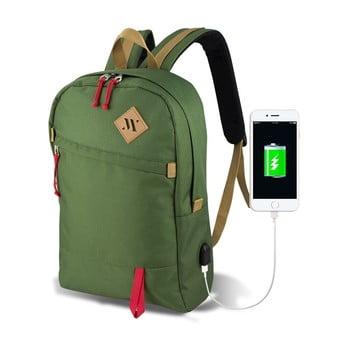 Rucsac cu port USB My Valice FREEDOM Smart Bag, verde de la Myvalice