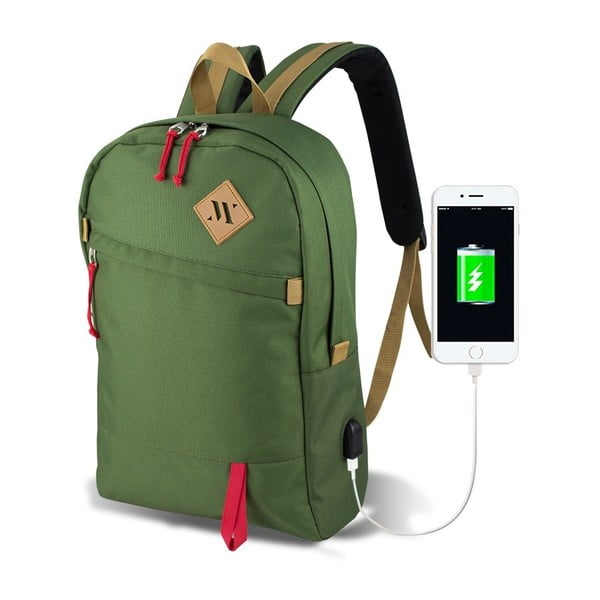 Zielony plecak z portem USB My Valice FREEDOM Smart Bag