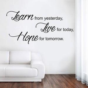 Samolepka na stěnu Learn Live Hope, 70x50 cm