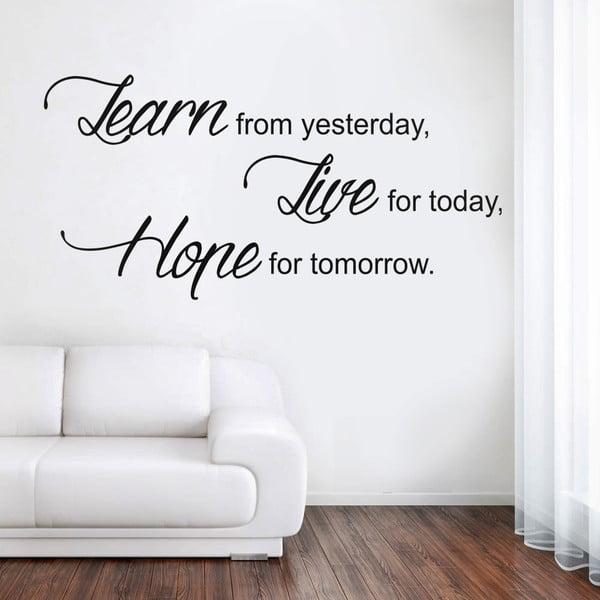 Dekorativní samolepka na zeď Learn Live Hope