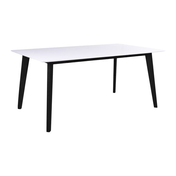 Vojens fehér étkezőasztal fekete lábakkal, hosszúság 150 cm - House Nordic