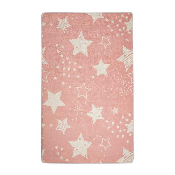 Dětský koberec Pink Stars, 100x160cm