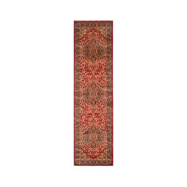 Červený běhoun Safavieh Chiara, 66x243cm