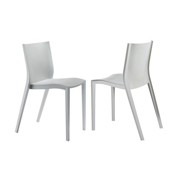 Sada 2 židlí Slick Slick, šedá