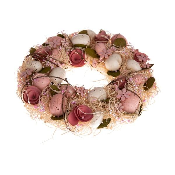 Závěsný věnec s umělými květinami Dakls Mira, ⌀ 31 cm