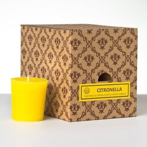 Sada 12 vonných svíček Citronella, 15 hodin hoření