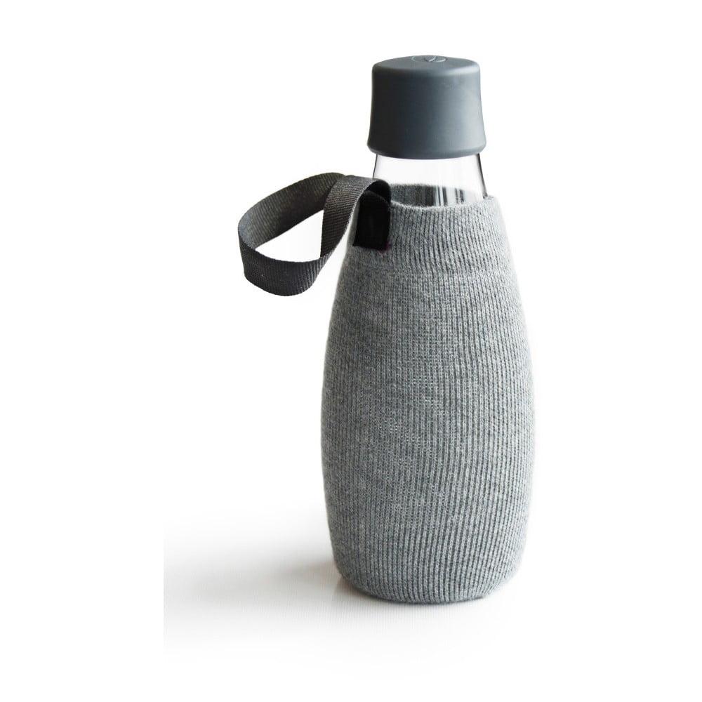 Šedý obal na skleněnou lahev ReTap s doživotní zárukou, 500ml
