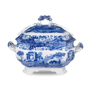 Bílomodrá porcelánová mísa na polévku Spode Blue Italian, 3,4 l