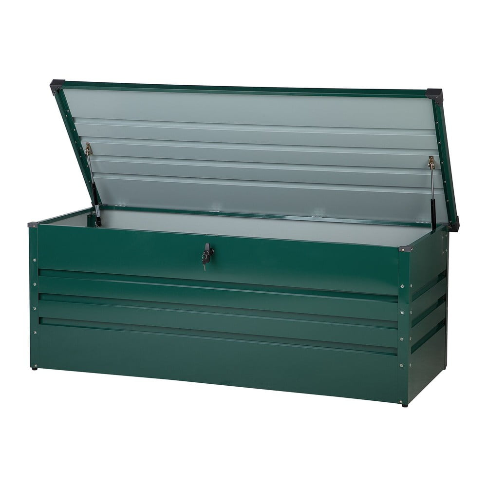 Tmavě zelený zahradní úložný box Monobeli Oklahoma, 165 x 70 cm