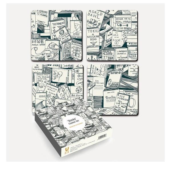 Sada 4 korkových podtácků U Studio Design Books