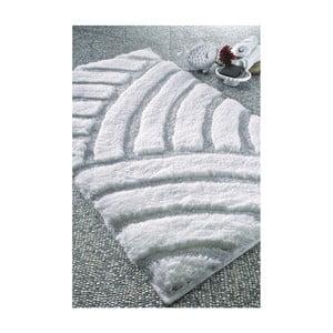 Bílá koupelnová předložka Confetti Bathmats Karya, 60x100cm