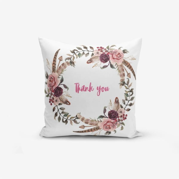 Thank You pamutkeverék párnahuzat, 45 x 45 cm - Minimalist Cushion Covers