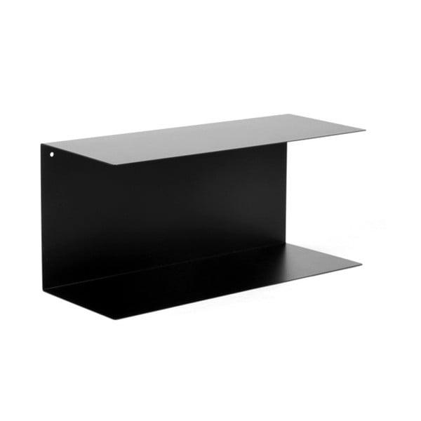 Czarna żelazna półka Canett Joy Adams, 23x50 cm