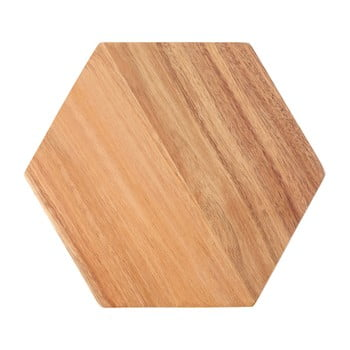 Tocător din lemn de acacia Premier Housewares Hexagon, 24 x 28 cm